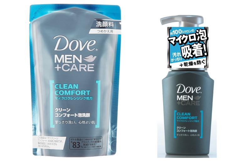Dove CLEAN COMFORT 泡洗顏(本體130ml、填充包110ml)
