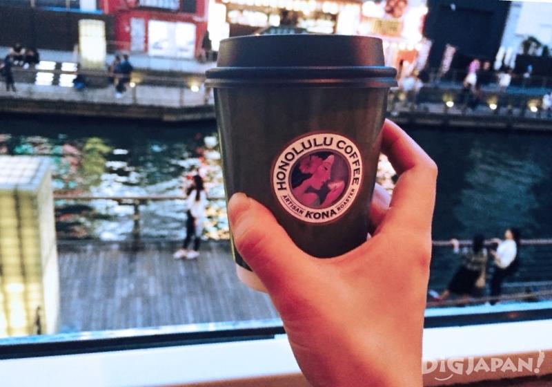 오사카 도톤보리 호놀룰루 카페_커피