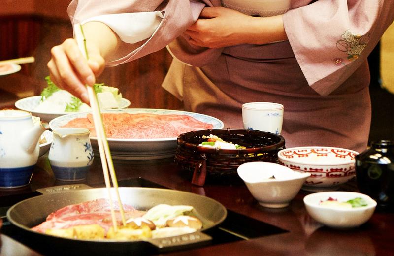 淺草今半壽喜燒的料理過程