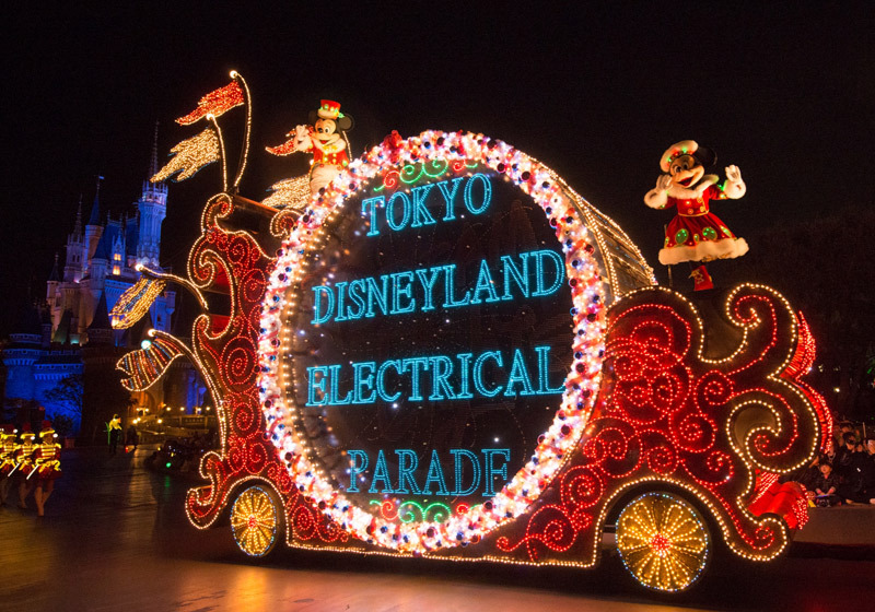 The Electrical Parade at Tokyo Disneyland