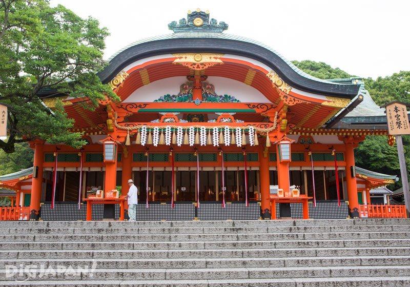 The main shrine of Fushimi Inari Taisha in Kyoto