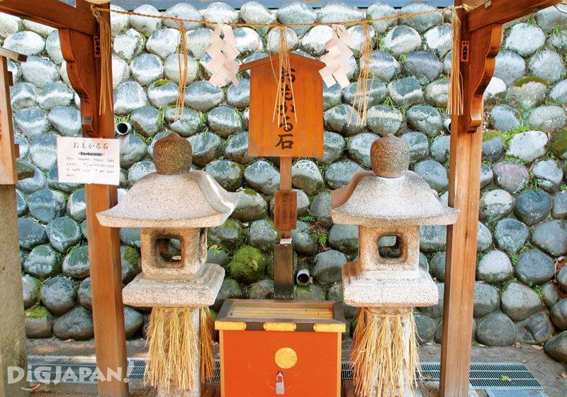 The Omokaru Ishi at Fushimi Inari Shrine