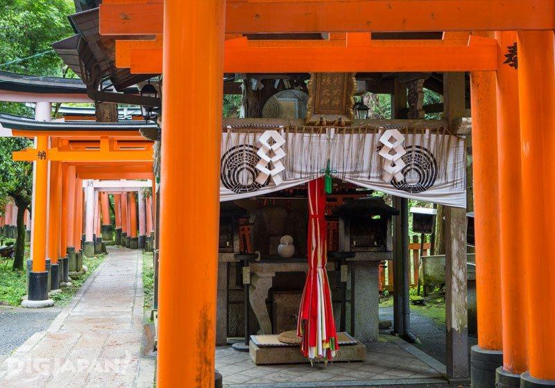 A small shrine at Fushimi Inari Taisha Shrine