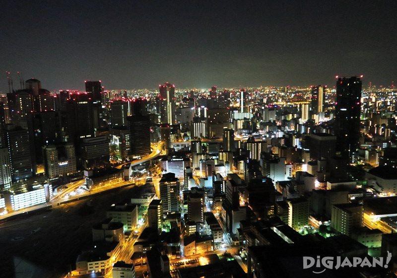 空中庭園屋上からの夜景