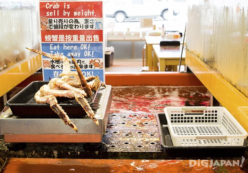 Selling crab by weight