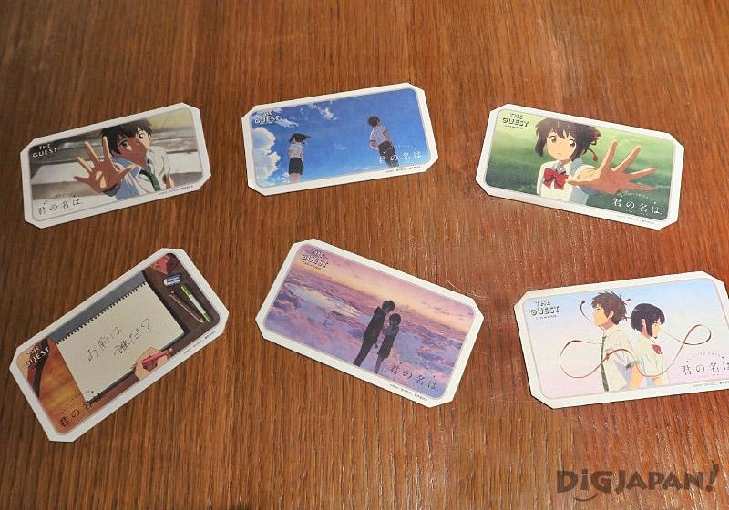 Limited-edition coasters from Kimi No Na Wa cafe