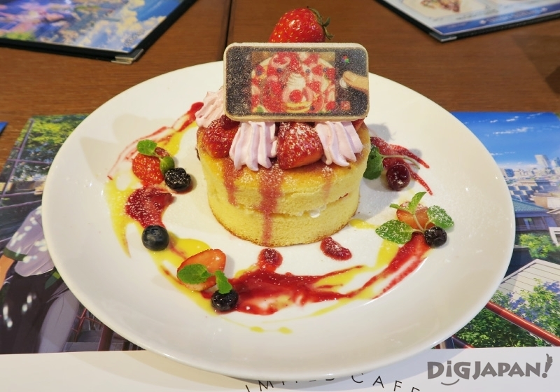 """""""Mitsuha, Who Has Switched Places with Taki, Wants to Take a Picture"""" Pancakes from the Kimi No Na Wa Cafe"""