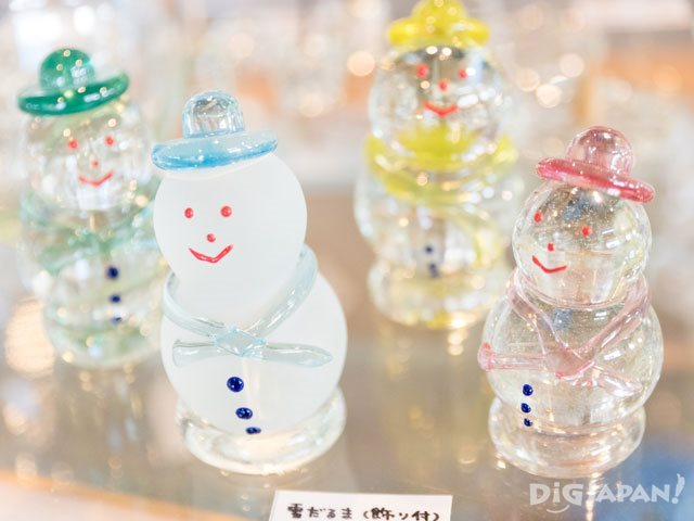 Ryuhyo Glass Kan Snowmen decorations