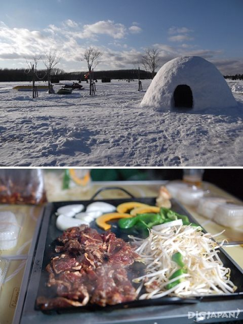 A kamakura in Hokkaido where you can eat jingisukan