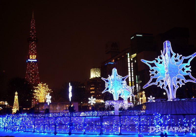 札幌白色灯树1
