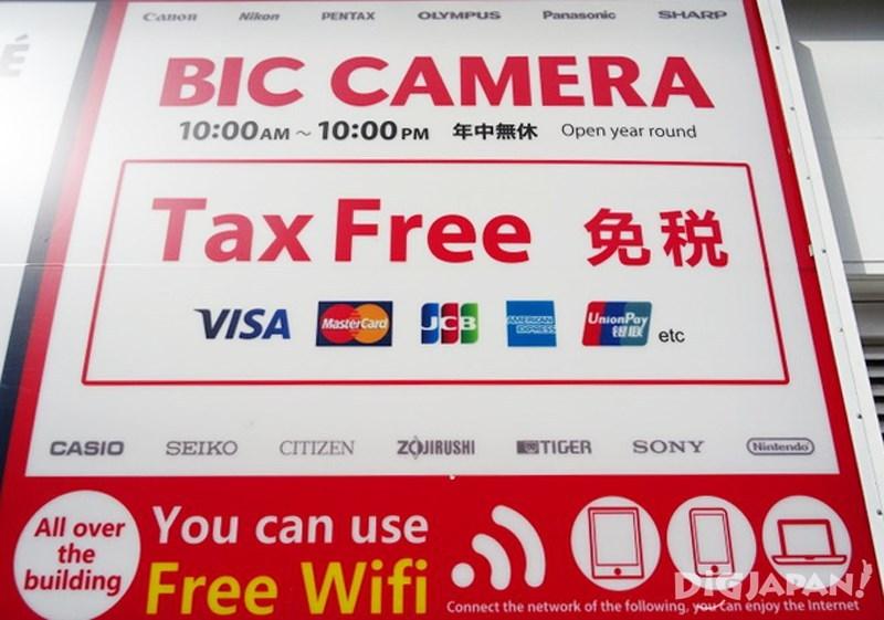 外國觀光客購物優惠和免税服務