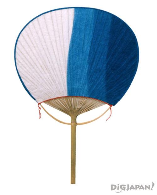 蓝染团扇段染