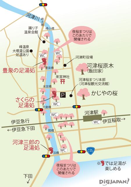河津桜まつり_会場MAP