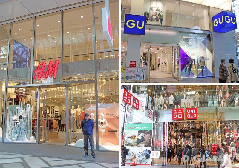 H&M、GU、优衣库等著名快时尚连锁店都在这里有分店