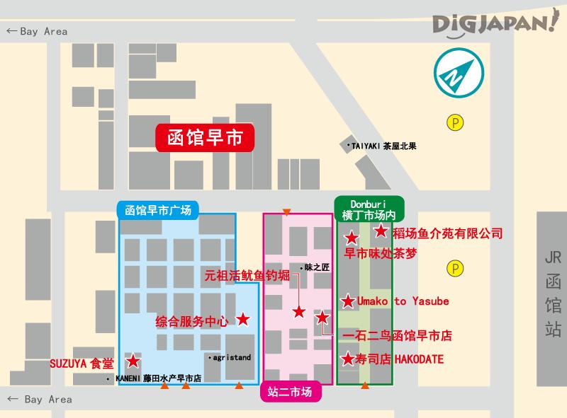 函馆早市介绍店铺地图