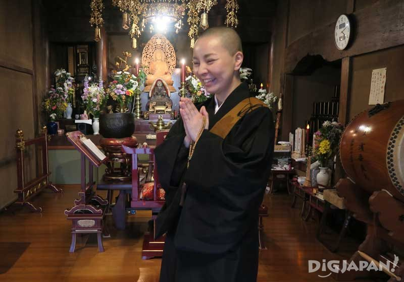 Rev. Naho Sakai, a Buddhist nun of the Nichren sect
