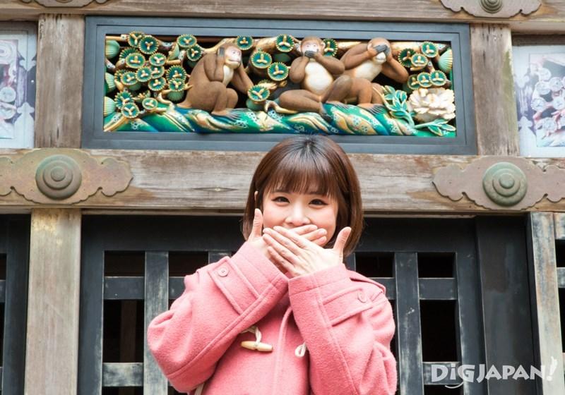 日光東照宮三猿雕刻
