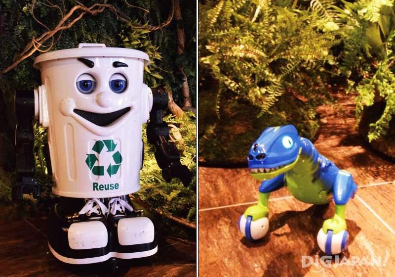 奇怪酒店移动垃圾桶和小恐龙
