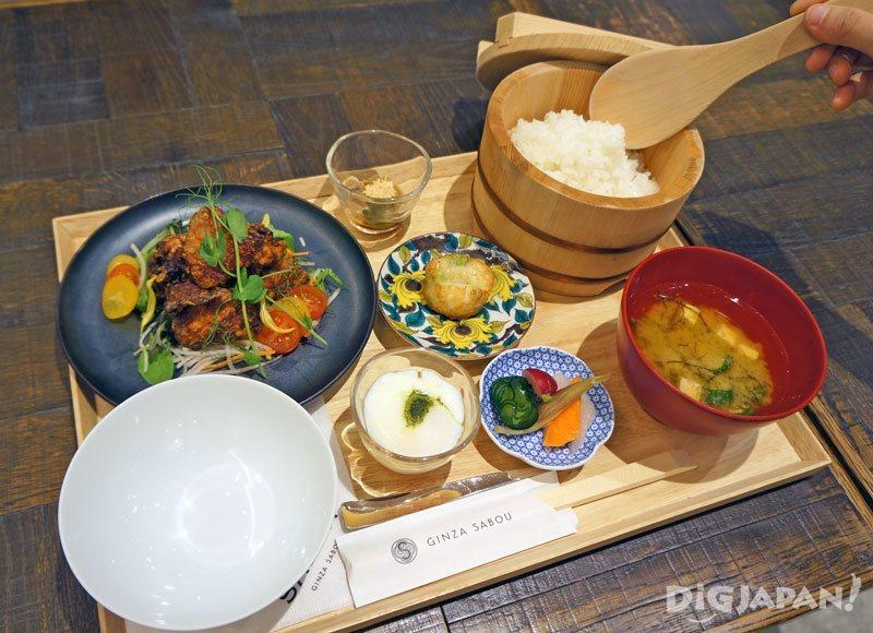 SALON GINZA SABOU_銀座茶房 午間定食1