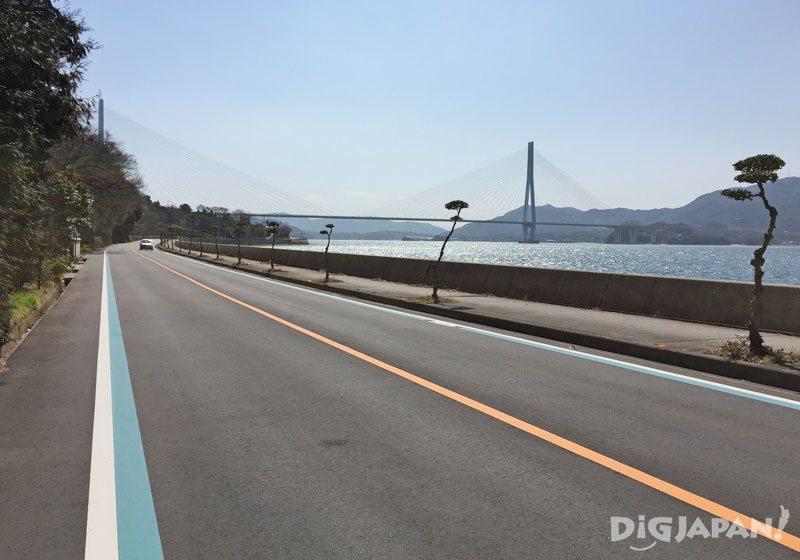 在生口島騎自行車