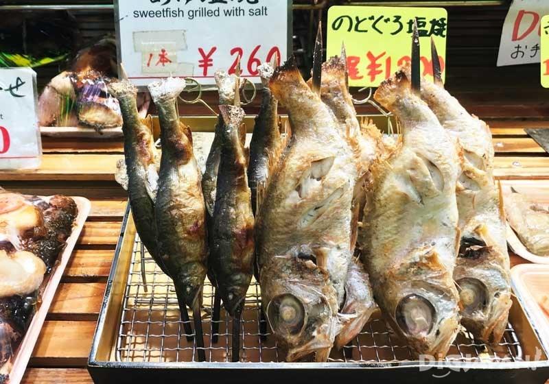 盐烤喉黑鱼