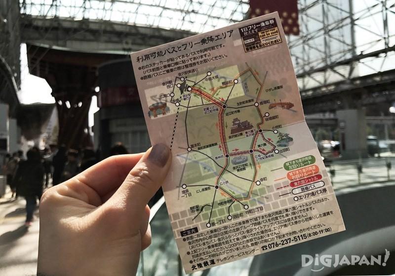 一日畅游票内侧附有路线图