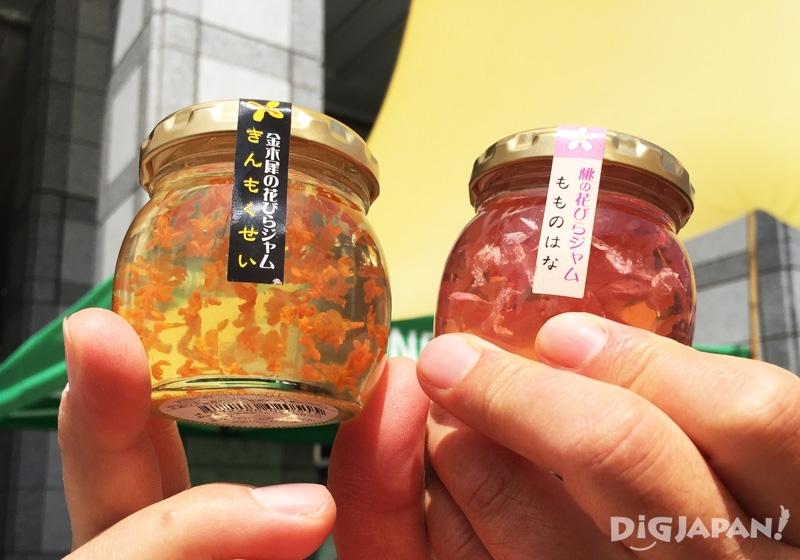 桃花口味和金木犀花的果醬