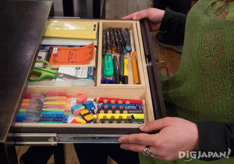 A premium selection of stationery in drawer