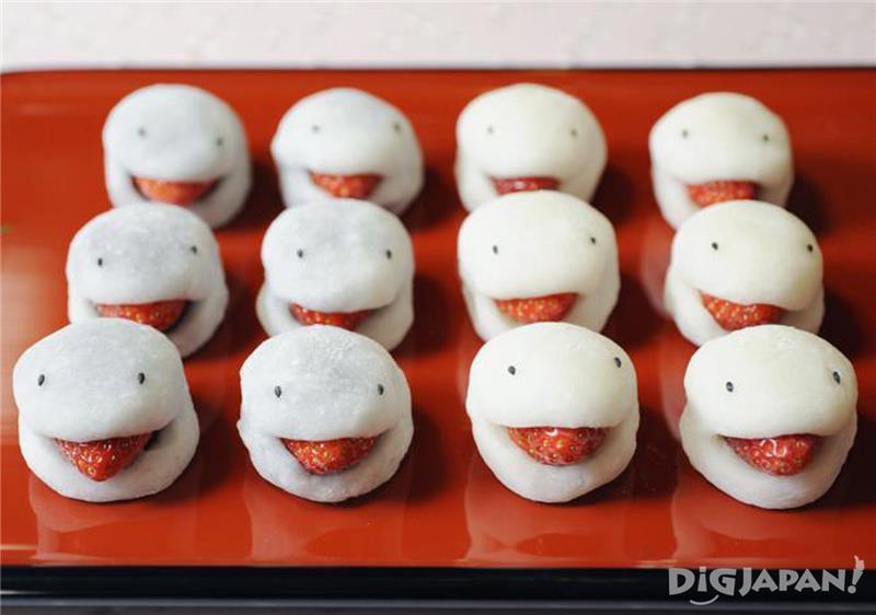 12月~5月上旬販售的「妖怪草莓大福」