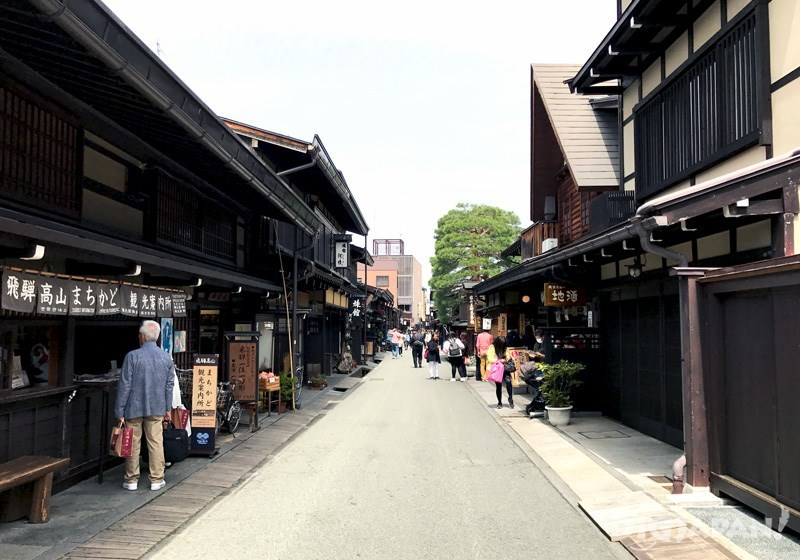 The Edo period landscape is still intact