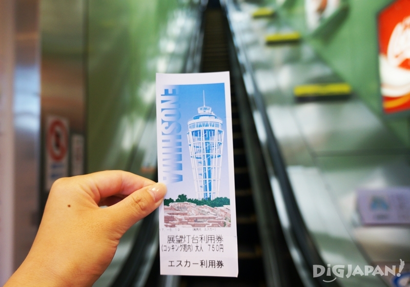 Enoshima observation deck and elevator set ticket