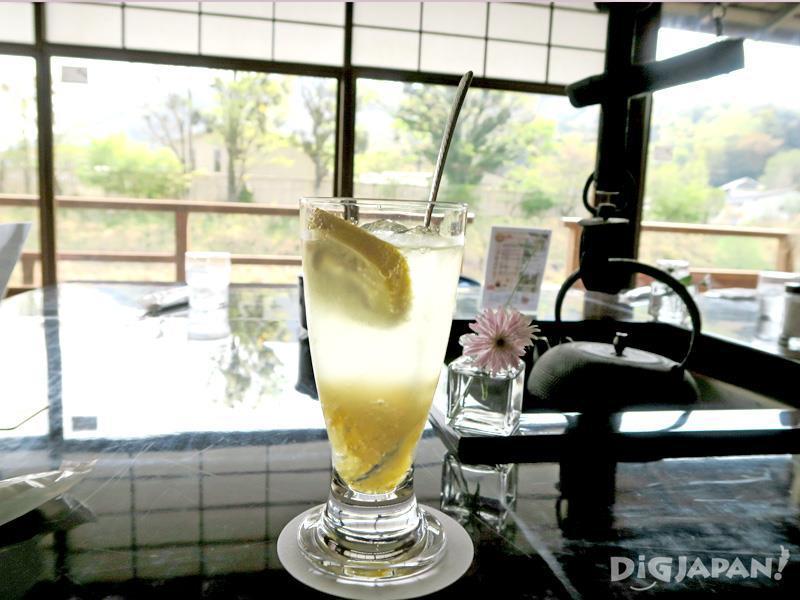 The refreshing taste of yuzu squash 550 yen