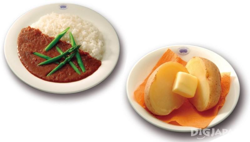 黄油土豆和咖喱饭