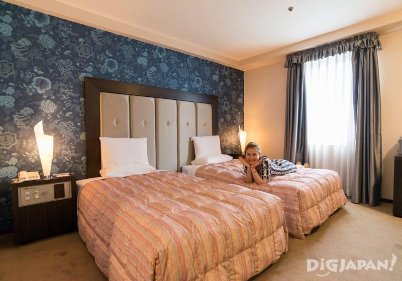 室內空間舒適的雙床房