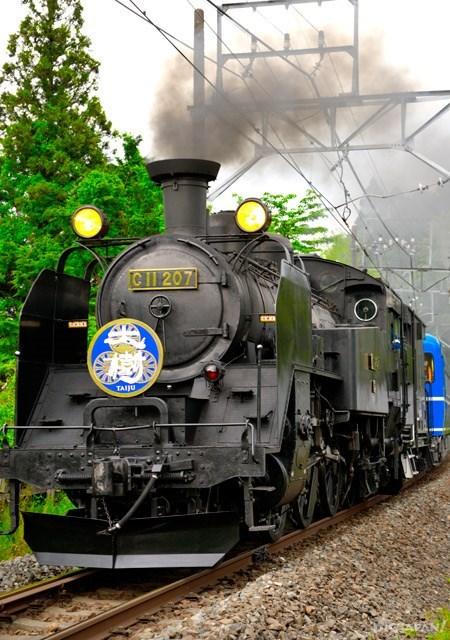ความสนุกทวีคูณกับรถไฟหัวรถจักร SL Taiju มุ่งตรงสู่ออนเซ็น Kinugawaonsen