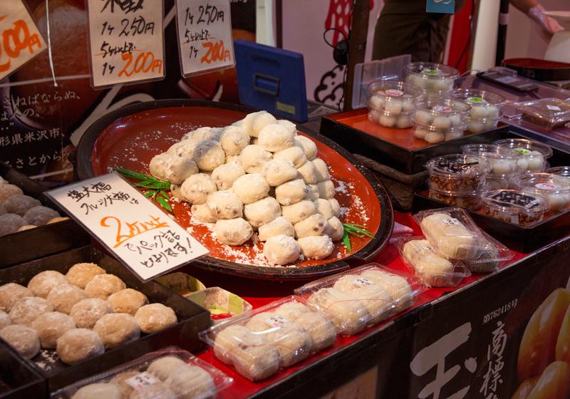日式丸子跟麻糬等的和果子