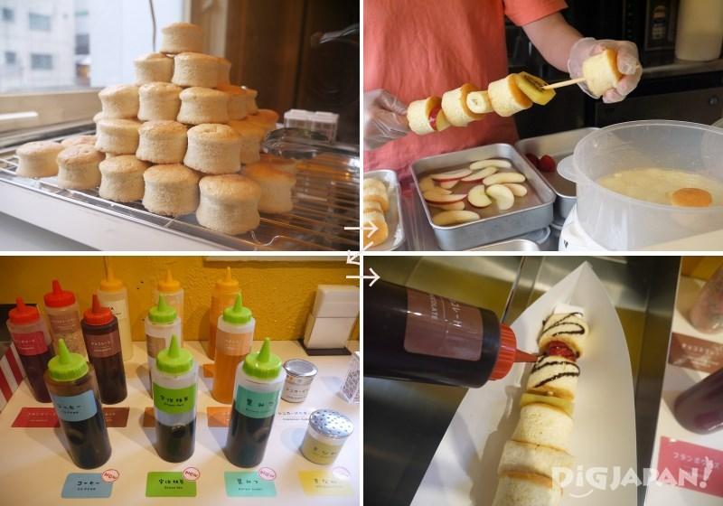 PANBO世界初の串に刺さったパンケーキ