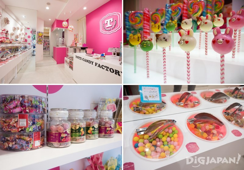 世界各国のカラフルなお菓子が集まる店内
