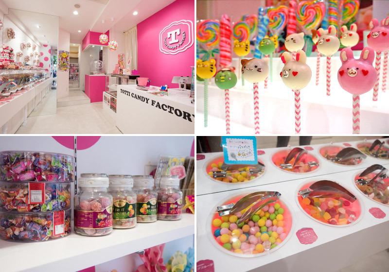 TOTTI店里集聚世界各地彩色糖果