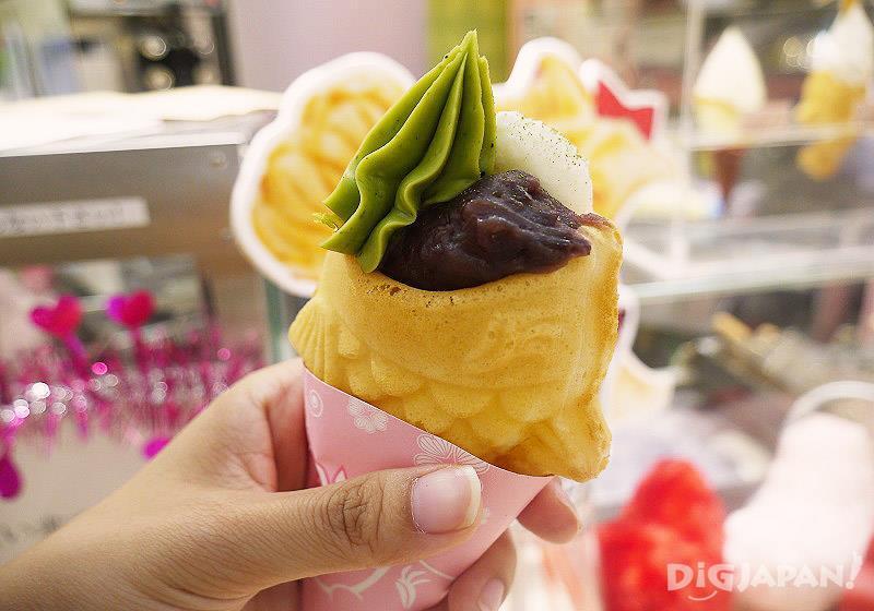 抹茶小豆意式冰淇淋(380日元)