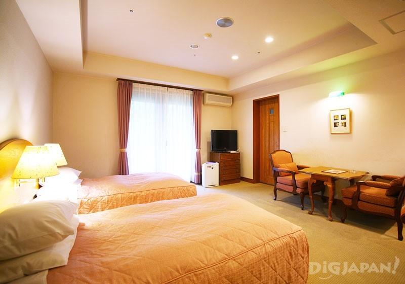 ด้านในห้องที่พักโรงแรม Chuzenji Kanaya