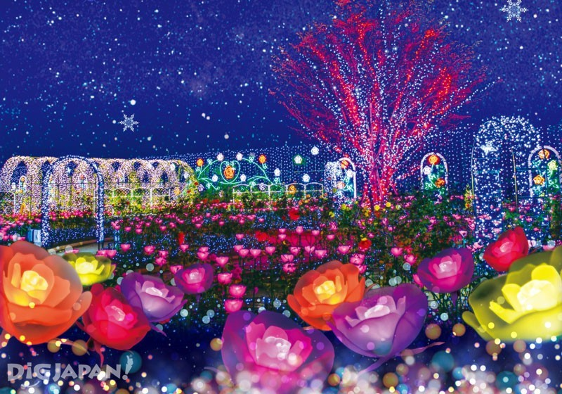 花卉造型的彩燈