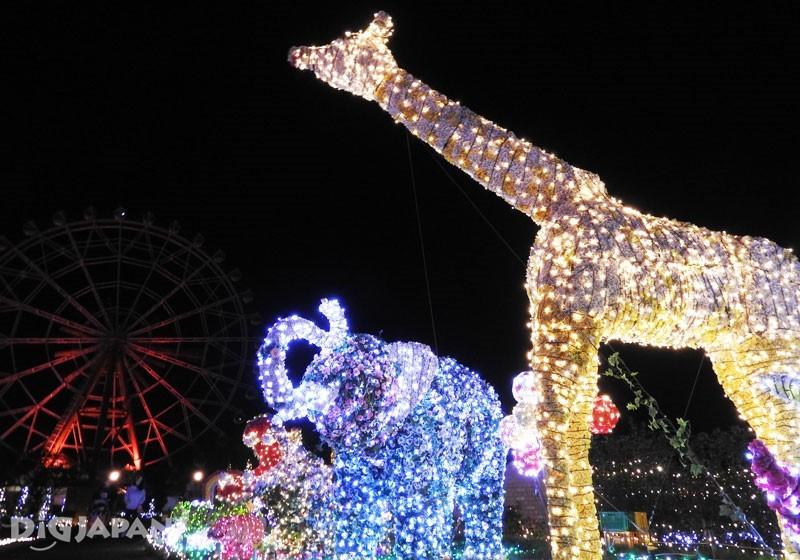 結合可愛動物和彩燈