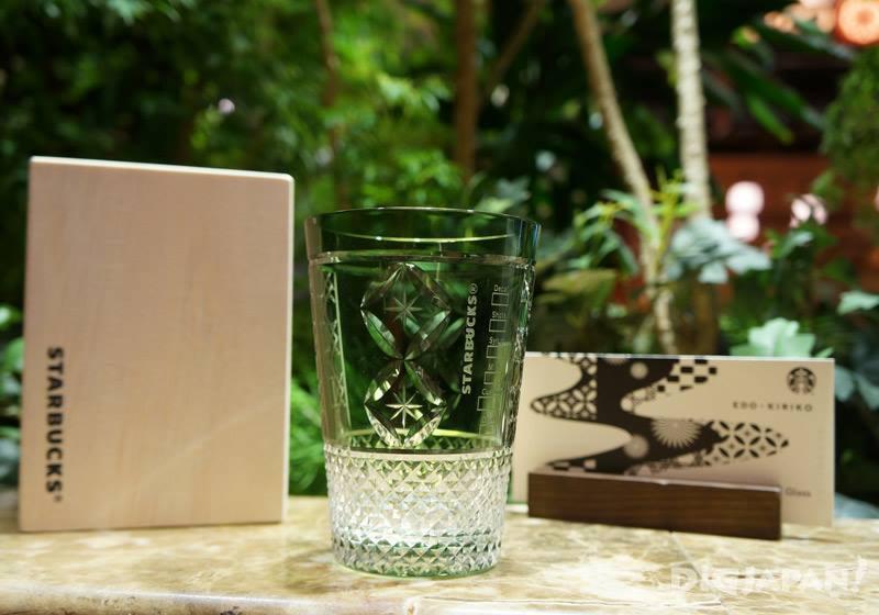星巴克江戸切子冰咖啡玻璃杯