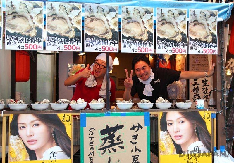 Oyster food stall - Tokyo Koenji Awa Odori 2017