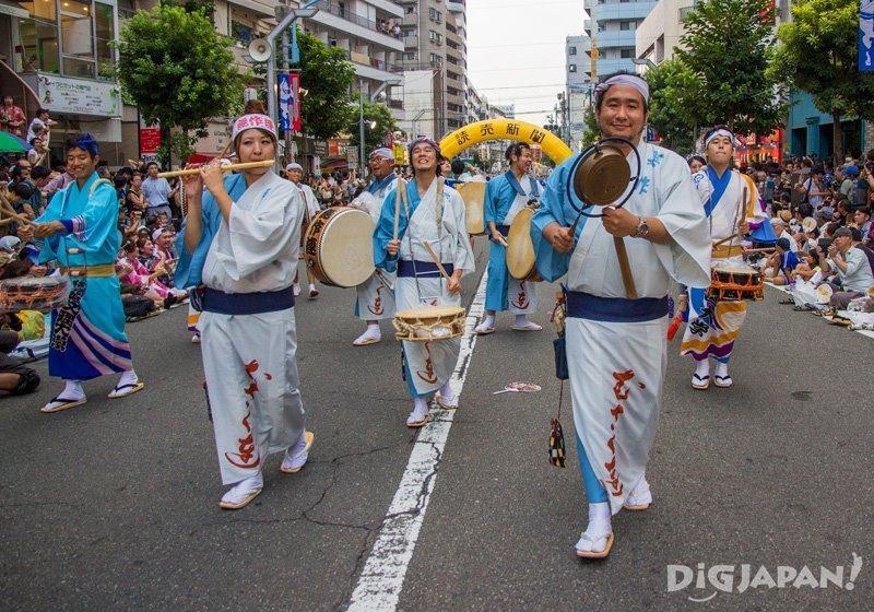 Narimono Japanese musicians - Tokyo Koenji Awa Odori 2017