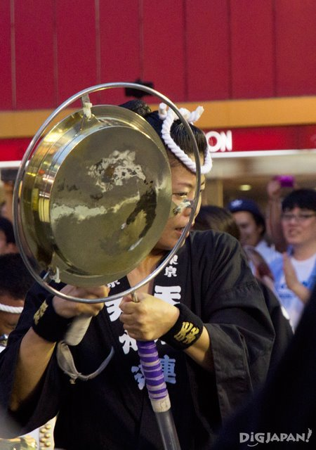Kane bell player  - Tokyo Koenji Awa Odori festival