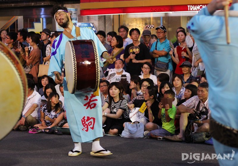 O-daiko drum player - Tokyo Koenji Awa Odori festival