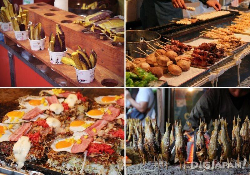 Yatai food stalls - Tokyo Koenji Awa Odori festival