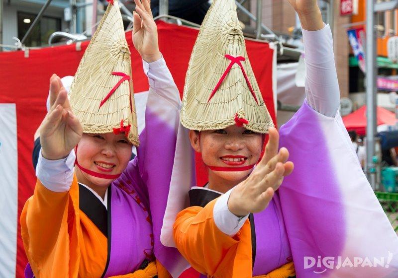 Japanese dancers - Tokyo Koenji Awa Odori festival